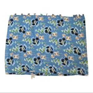 Ann Taylor Loft floral tassel rectangular scarf